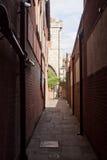 Oude straat in York, Engeland, het UK Stock Foto's