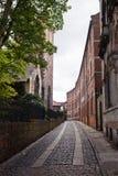 Oude straat in York, Engeland, het UK Royalty-vrije Stock Afbeeldingen