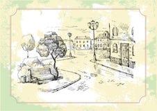 Oude straatachtergrond Stock Afbeelding