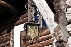 Oude Straatlantaarn Stock Foto's