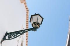 Oude straatlantaarn in Portugal Stock Fotografie