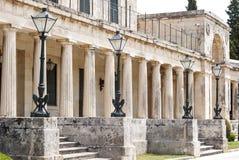 Oude straten, de stad van Korfu Stock Afbeeldingen