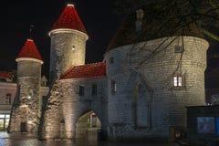 Oude straten in Tallinn Royalty-vrije Stock Afbeeldingen