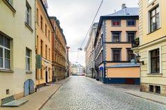Oude straten van Riga, Letland stock fotografie