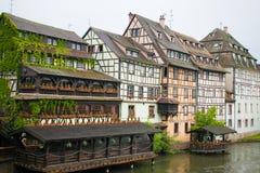 Oude straten van Straatsburg, Duitsland, Oud Europa royalty-vrije stock afbeeldingen