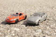 Oude stuk speelgoed auto royalty-vrije stock fotografie