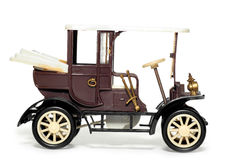 Oude stuk speelgoed auto Velox Praag 1900 Stock Fotografie