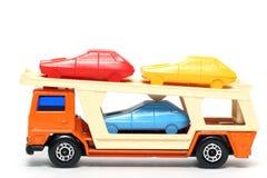 Oude stuk speelgoed autoAutotransportwagen #3 Stock Afbeelding