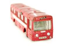 Oude stuk speelgoed bus Stock Afbeelding