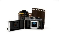 Oude stuk speelgoed camera stock afbeeldingen
