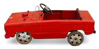 Oude stuk speelgoed pedaalauto Stock Foto