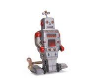 Oude stuk speelgoed robot Stock Fotografie