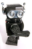 Oude stuk speelgoed tinrobot Royalty-vrije Stock Afbeeldingen
