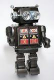 Oude stuk speelgoed tinrobot #5 stock foto