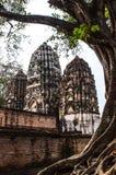 Oude stupa Het historische park van Sukhothai, Thailand Royalty-vrije Stock Foto's