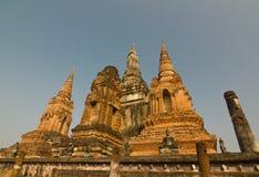 Oude stupa in Wat MahaThat, het Historische Park van Sukhothai, Thailand Royalty-vrije Stock Foto's