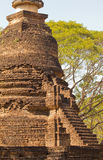 Oude stupa in Wat Nang Praya, het Historische Park van Si Satchanalai, Thailand Stock Foto