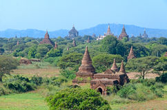 Oude Stupas en pagoden van Bagan myanmar Stock Afbeelding