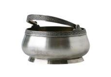Oude suikerkom, zilver royalty-vrije stock afbeelding