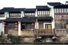 Oude suzhou van watersteden -stad-shantang Royalty-vrije Stock Afbeeldingen