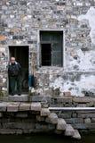 Oude suzhou van watersteden -stad-shantang Stock Foto's