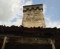 Oude Svan-toren Stock Afbeelding