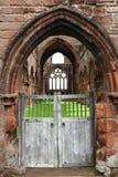 Oude Sweethart-Abdij, Schotland Stock Foto