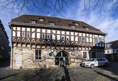 Oude synagoge in Erfurt, Duitsland Royalty-vrije Stock Afbeelding