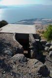 Oude Syrische Bunker op Golan Heights royalty-vrije stock foto