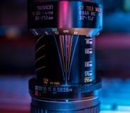 Oude Tamron-lens stock afbeelding