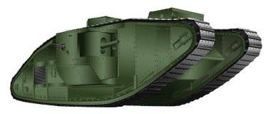 Oude Tank stock illustratie