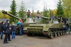 Oude Tanks Geschiedenistentoonstelling Stock Foto's