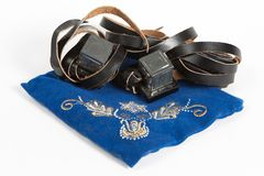Oude Tefillin royalty-vrije stock afbeelding