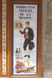 Oude tegels met typische producten van Toledo, Spai Royalty-vrije Stock Foto