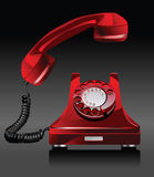 Oude telefoon. Stock Fotografie