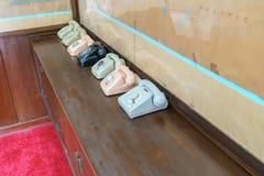 Oude telefoon in het Onafhankelijkheidspaleis stock afbeelding