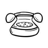 Oude telefoon met hanset en roterende wijzerplaat vector illustratie