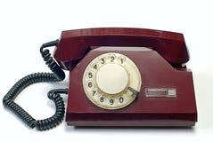 Oude telefoon op wit Stock Afbeeldingen