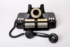 Oude telefoon oude technologie Stock Fotografie
