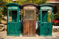 Oude telefooncel. stock afbeelding