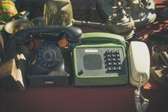 Oude telefoons Stock Foto's