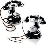 Oude telefoons Royalty-vrije Stock Foto