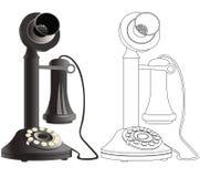 Oude telefoontekening Royalty-vrije Stock Fotografie