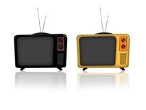 Oude televisie Royalty-vrije Stock Afbeeldingen