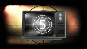 Oude televisie royalty-vrije illustratie