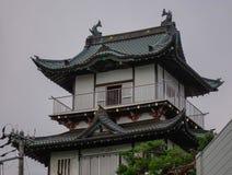 Oude tempel in Akita, Japan royalty-vrije stock afbeeldingen