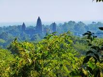 Oude Tempel in Angkor Wat/Kambodja royalty-vrije stock foto's