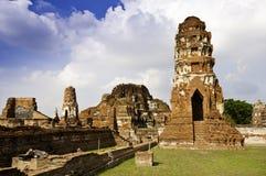 Oude Tempel in Ayudhaya stock afbeelding