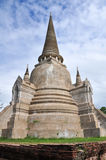 Oude Tempel in Ayuthaya Thailand Royalty-vrije Stock Afbeelding