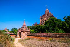 Oude tempel in Bagan Stock Afbeelding